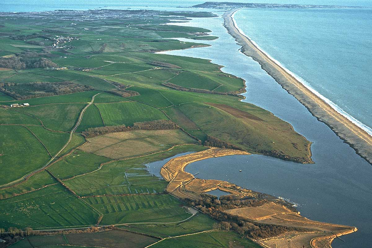 Chesil Beach From Above